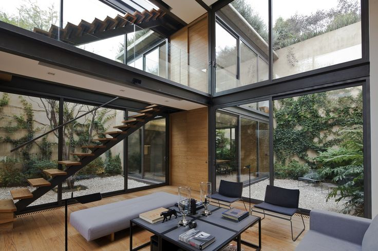Completed in 2013 in Mexico City, Mexico. Images by Onnis Luque. Located in the heritagearea of the old town of Tacubaya, this house aims to reinterpret the use of the courtyard in a contemporary manner. In the...