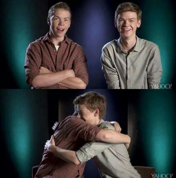 Awww, Thomas Sangster and Will Poulter: ) I love them<<3