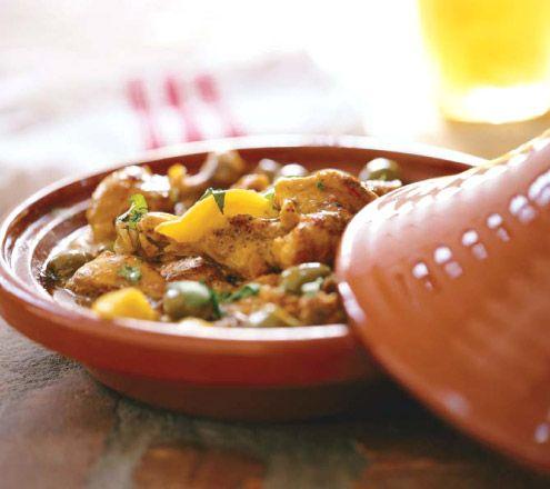 Tajine de poulet aux olives et au citron confit: Poulet Olive, Citron Olive, The Thing, Table