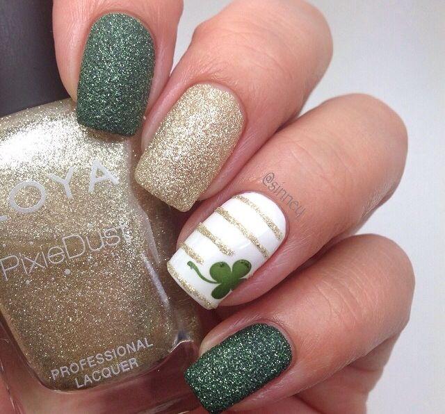 Nails to sant Patricks day
