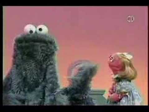Cookie Monster and the letter C