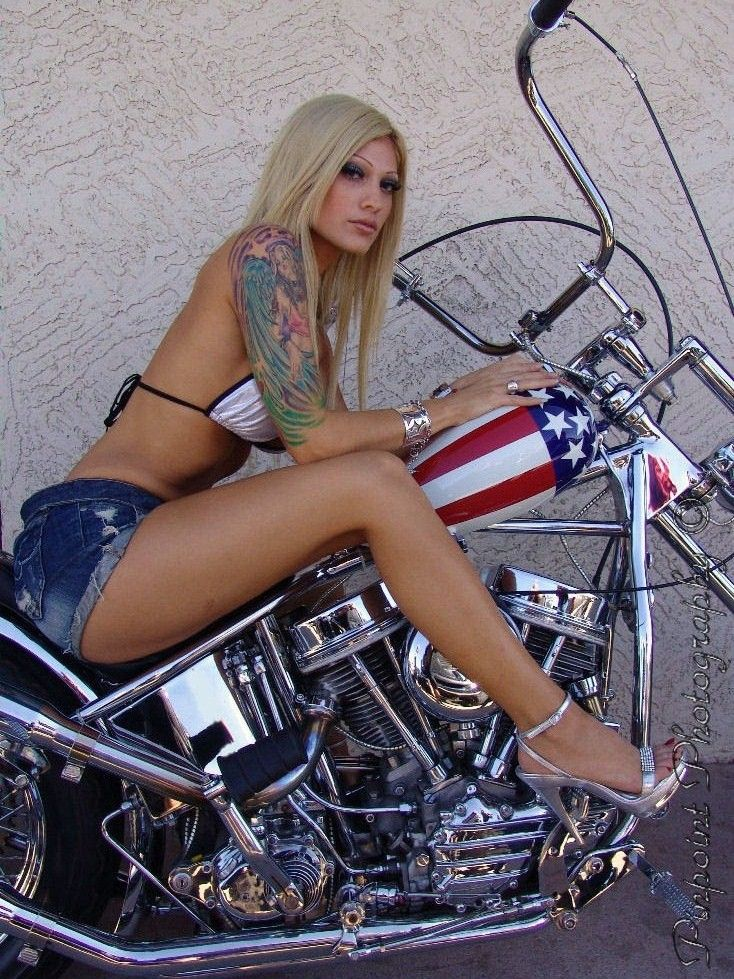 Goes! extremely busty naughty young nude biker chicks titty flashing at biker rallies what words