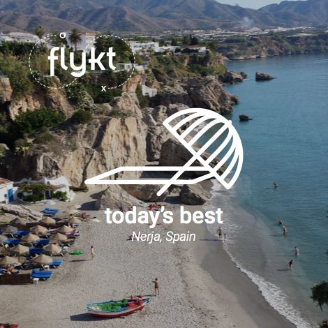Today's Best, Beach: Naga, Spain! The weather is getting better day by day. Let's go for a dive? #beach #Spain #summer