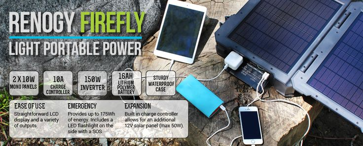 Introducing the Renogy Firefly—light, portable power for your on-the-go needs, and no, we're not kidding! The Renogy Firefly is available at http://renogy-store.com starting today!