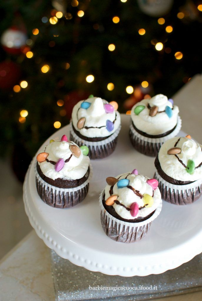 Christmas lights cupcakes