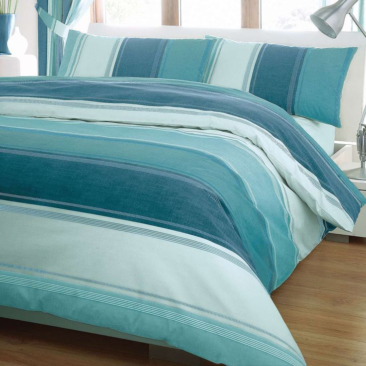 Finley Teal Duvet Cover Set | Dunelm