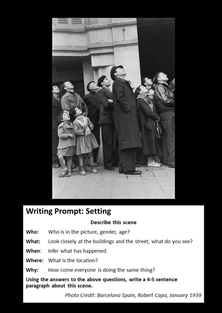 pictures to use as writing prompts The picture prompts have vocabulary words printed right on the page as  the prompts can be used as a writing center, morning journal work,.