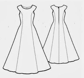 FREE Sewing Pattern Long Dress - Molde de costura para vestido evasé y corte princesa | EL BAÚL DE LAS COSTURERAS