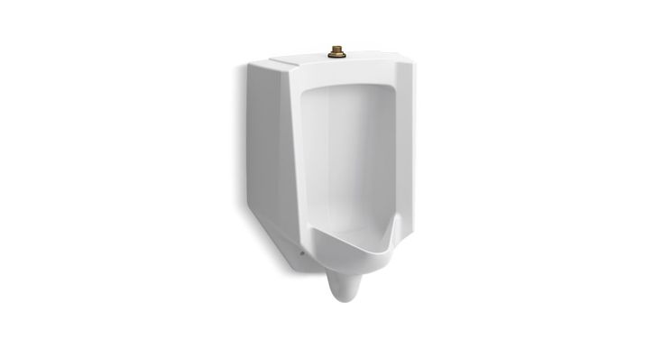 The newly redesigned K-4991-ET urinal provides flexible flushing options along with a bold contemporary look. Based on your selected flushometer, the Bardon operates in the range from 0.125 to 1.0 gallon per flush.