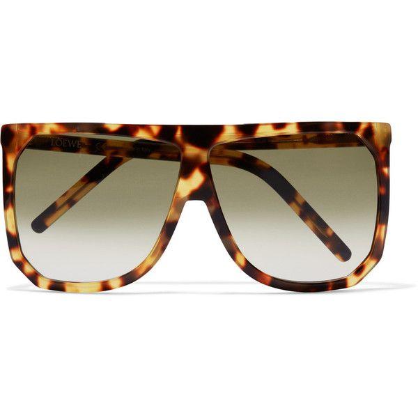 Loewe Filipa D-frame acetate sunglasses ($470) ❤ liked on Polyvore featuring accessories, eyewear, sunglasses, tortoiseshell, acetate sunglasses, polka dot glasses, loewe sunglasses, dot sunglasses and tortoiseshell sunglasses
