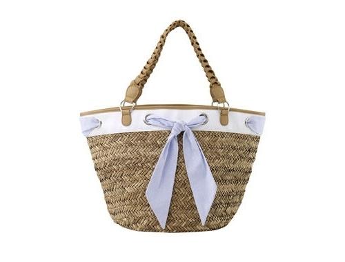 Cute straw beach bag