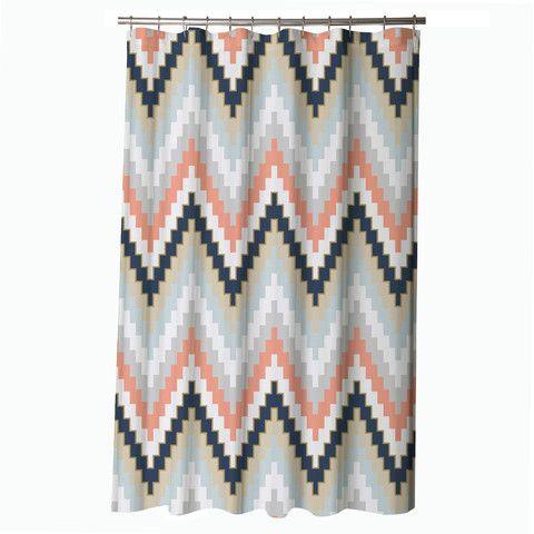 Blissliving Home Harper Blue Shower Curtain, Chevron Shower Curtain U2013  Showercurtainhq.com #shower