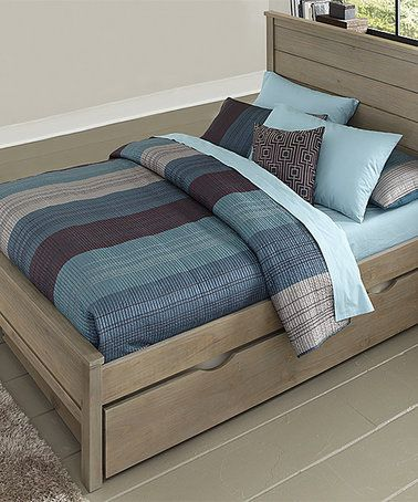Loving this Driftwood Highlands Alex Panel Full Bed with Trundle on #zulily! #zulilyfinds