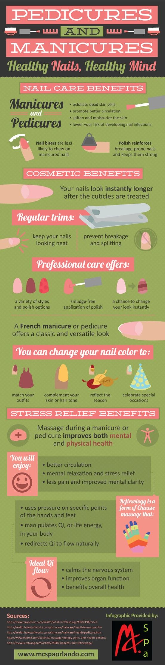 Do you bite your nails? If you get regular manicures, you can decrease the amount you chew on your nails. Learn more about the benefits of manicures and pedicures in this infographic from a spa in Orlando. Original source: http://www.mcspaorlando.com/675392/2013/04/04/benefits-of-pedicures-and-manicures--infographic.html
