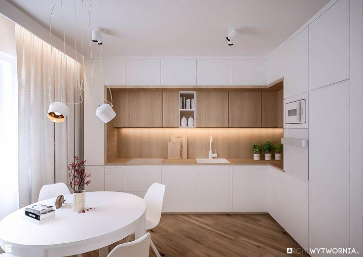 Mieszkanie w Dąbrowie Górniczej - zdjęcie od ARCHIWYTWÓRNIA Tomek Pytel - Kuchnia - Styl Skandynawski - ARCHIWYTWÓRNIA Tomek Pytel