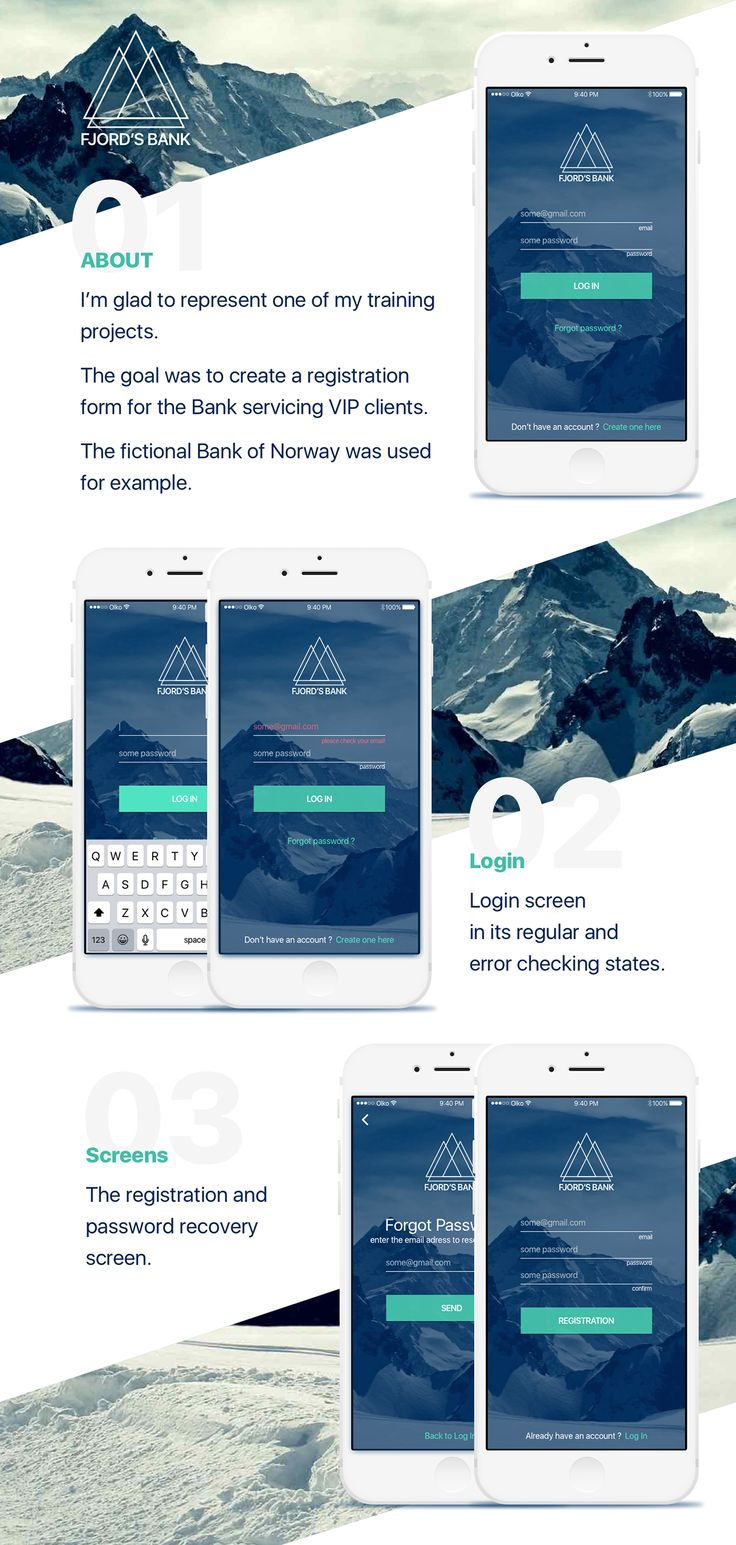 Fjord's bank project – Mobile App for IOS on Behance