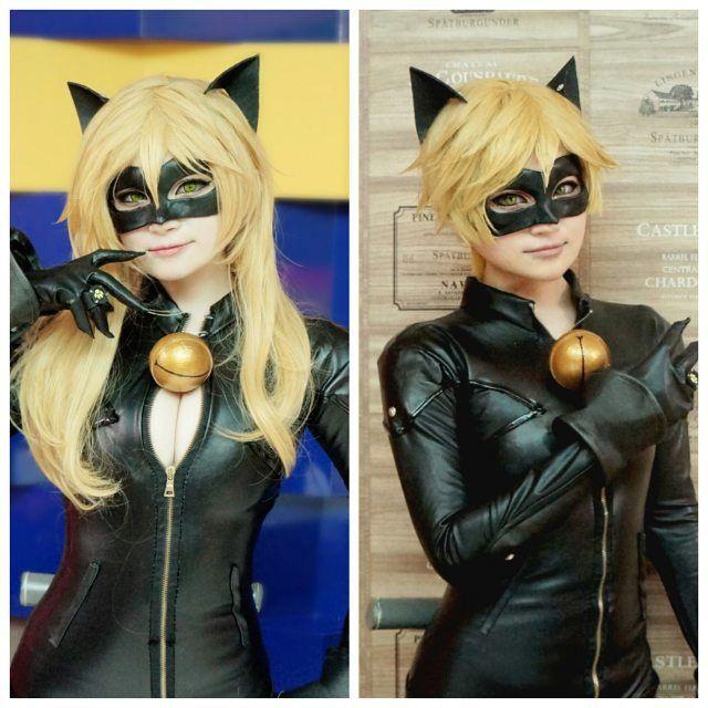 Cat noir & Lady cat noir(?) #catnoir #ladybug #miraculousladybugcosplay…
