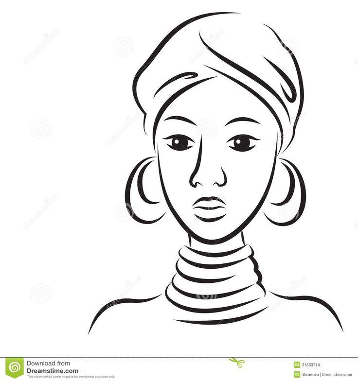 desenhos para pintar negras africanas - Pesquisa Google