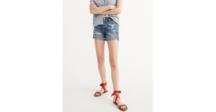 Denim Boyshorts by Abercrombie & Fitch | Spring - Free Shipping. On Everything.