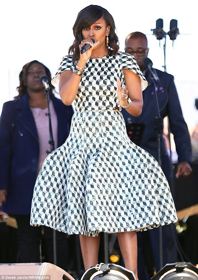 X Factor winner and UK singer Alexandra Burke on stage at the BBC's Great North Passion, South Tyneside.