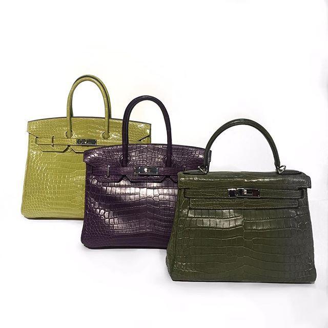 #mulpix Потрясающие крокодиловые сумки от 🌟HERMES🌟 🔸HERMES 28cm Matte Vert Veronese Nilo Crocodile Retourne Kelly Bag with Palladium 🔸HERMES  Birkin 30cm Mate Amethyst Crocodile 🔸HERMES Birkin 35cm Green color Ждём Всех в ШоуРуме Gold Vintage❣  #hermes #hermesbirkin  #hermeskelly  #bags  #crocodile  #exotic  #style  #kiev  #lux #luxury  #beauty  #fashion #роскошь  #сумка  #goldvintage2  #goldvintage2_bags