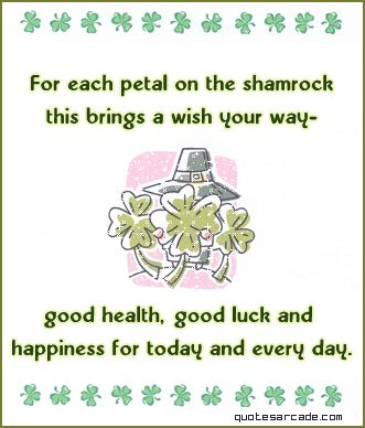 Happy St. Patrick's Day from Grandma's Molasses. grandmasmolasses.com #stpatricksday #quote #shamrock
