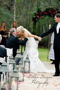 Especialy if you're not being presented in marriage!  //  Remember to do this. ♥ Kiss daddy before walking away with your hubby.