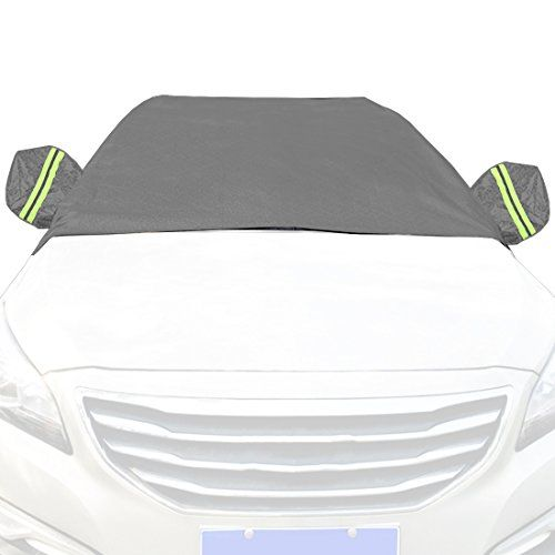 Car Snow Cover Snow Cover for Cars, SUV Snow Protectors Automotive Windshield Snow Covers Black Grey