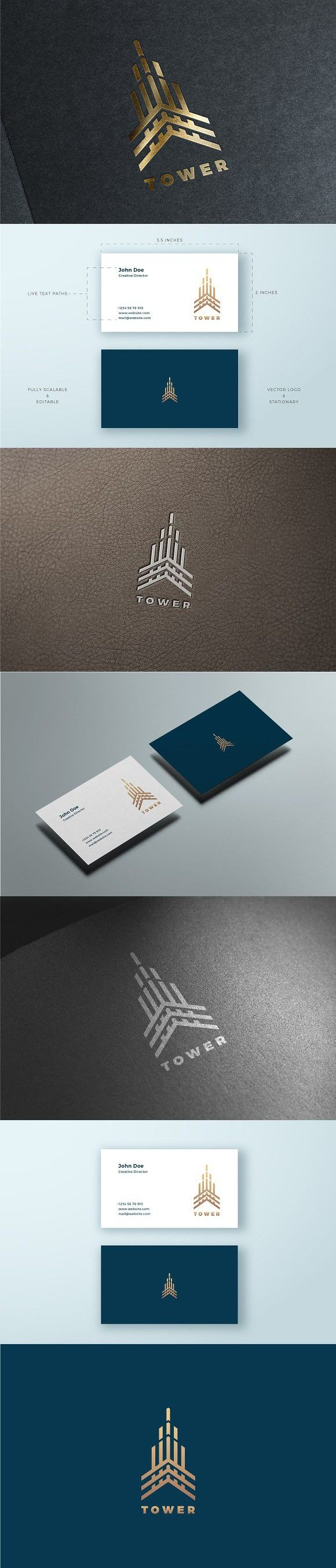 Tower Logo & Business Card Template