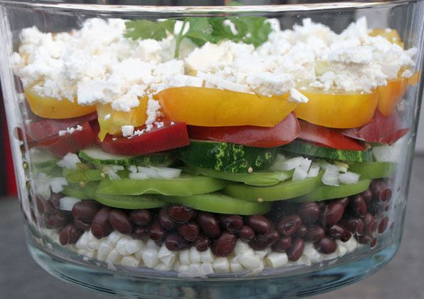 Southwest Salad w Chili-Lime Vinaigrette. #endofsummerfoods