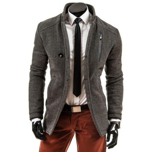 LAID BACK 071 Herrenmantel Grau Herren Mantel Jacke Coat Wintermantel Futtter
