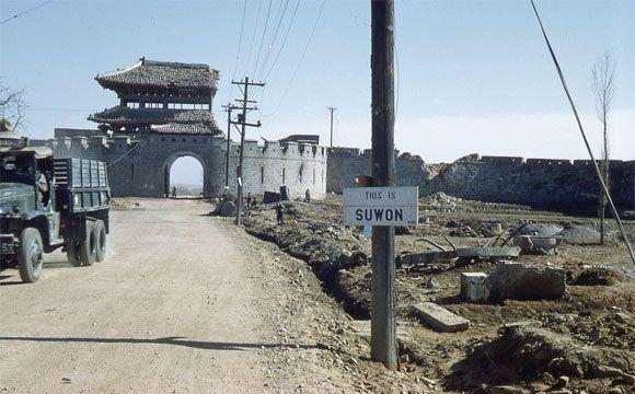Some of the destroyed Janganmun at Suwon Hwaseong(Korea War) - John Rich / 일부 파괴된 수원화성의 장안문 - 존 리치(한국전쟁 당시)