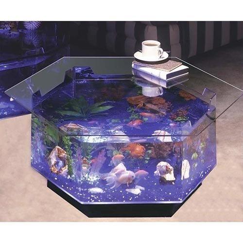 Aqua Octagon Coffee Table 40 Gallon Aquarium: Fish : Walmart.com