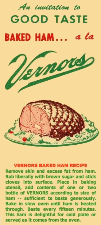 "Anyone remember the Vernor's factory in the ""D""? I still make my ham this way- delish!"