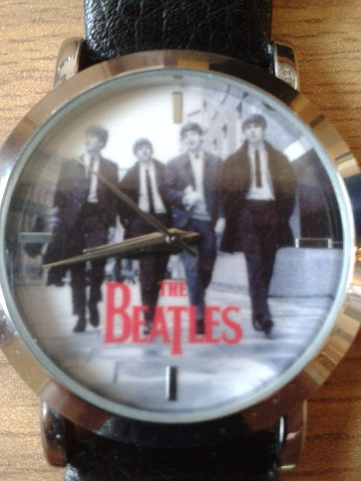 Beatles watch black leather  apple corp 2008 marked with limited editon no BE011
