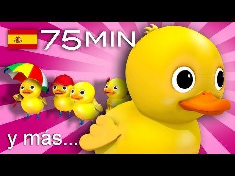 Cinco patitos   Y muchas más canciones infantiles   ¡75 min de LittleBabyBum! - YouTube