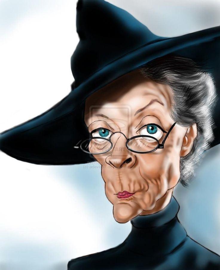 Maggie Smith as Minerva McGonagall -- by adavis57 Done for the Maggie Smith contest on Wittygraphy.com