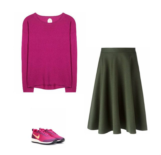 Casual Monday: sweater Jardin Des Orangers, skirt P.A.R.O.S.H., sneakers Nike
