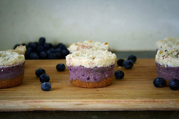 Mini Double Decker Blueberry & Coconut Cheesecakes | #healthy #recipe #dessert #delicious