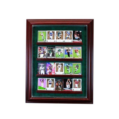 20 Card Cabinet Display Case Baseball Baseballcard Collector Memorabilia