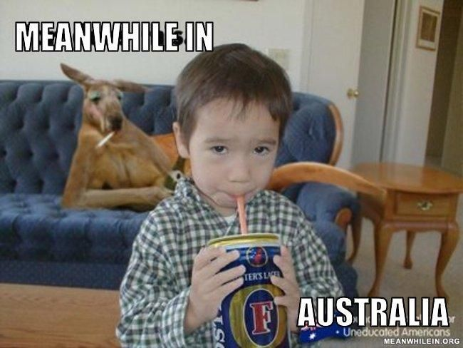 meanwhile in Australia.... fosters....