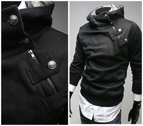 High Collar Assassin's Hoodie available here on our site! Tag a friend that would like this and remember to like and repin if you like what you see! Click here to order--> http://www.teebrewery.com/collections/the-assassins-collection/products/mens-high-collar-jacket