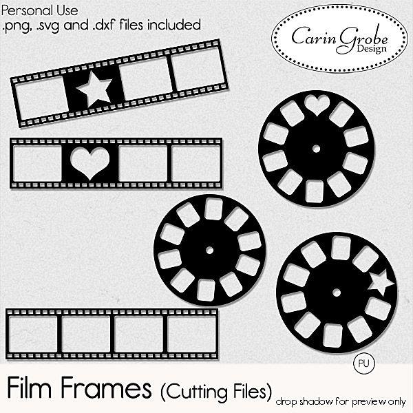 Film Frames (cutting files)   #digiscrap #theStudio #Silhouette #Cameo