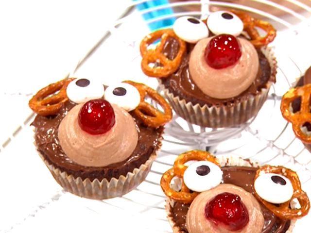 """Cupcakes """"Rudolf med röda mulen"""""""