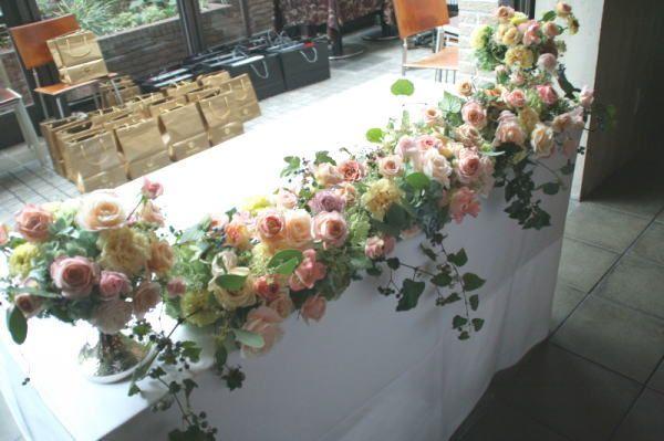 壁に実を ナフキンに葉を アンカシェット様へ : 一会 ウエディングの花