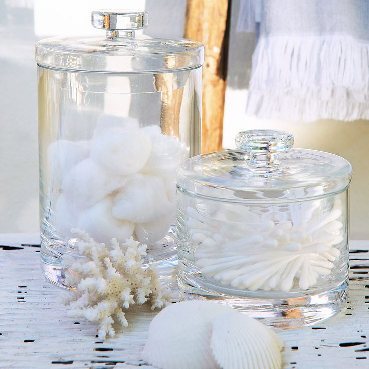 Buy Bathroom > Bathroom Accessories > Glass Storage Jars from The White Company