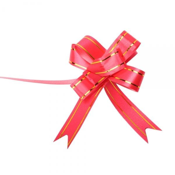 J, Golden Edge Pull Bow Ribbon Red 10pcs 0.7 Beautiful Flowers & Wreaths