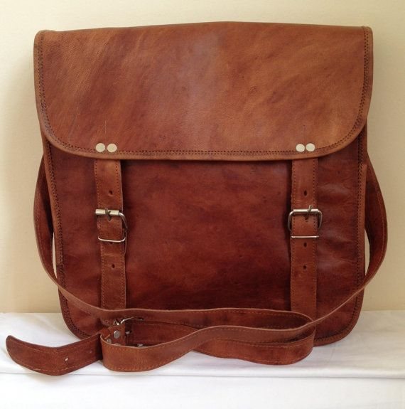 New Vintage Look Genuine Leather Brown by JuniperAccessories