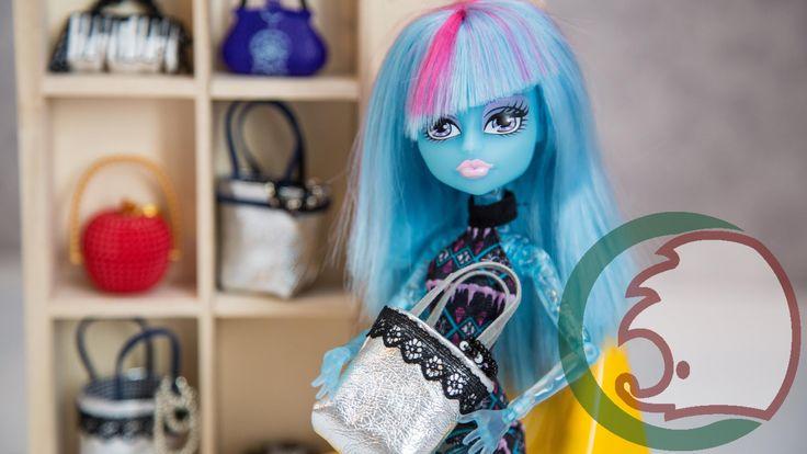 Как сделать дизайнерскую сумку для кукол. How to make designer bag for d...