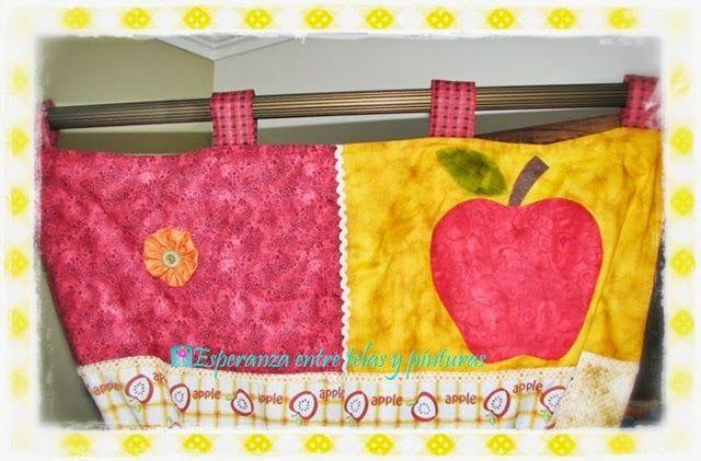 Cortinas y Agarraollas Manzanas